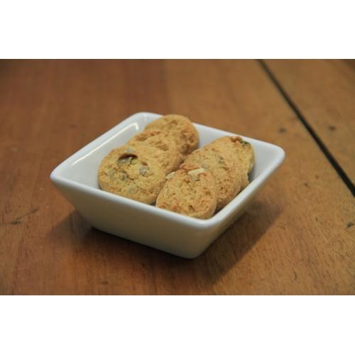 Biscuits sucrés à la farine de lin doré et graines de sésame