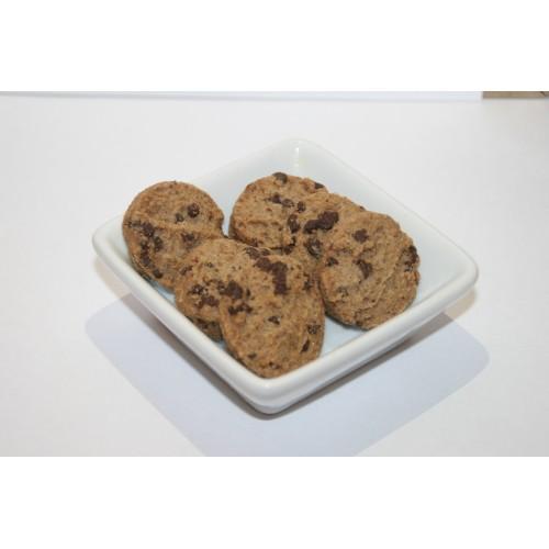 Biscuits sucrés à la farine de lin brun et pépites de chocolat