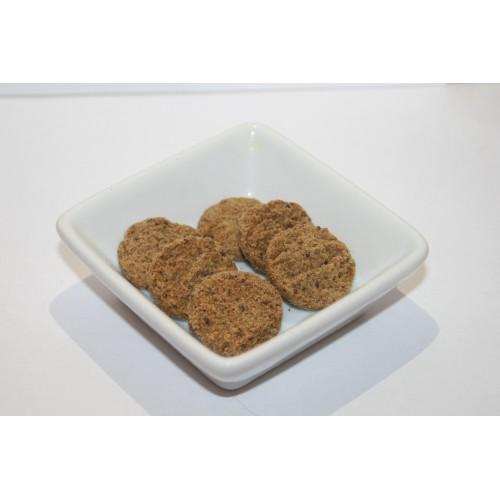 Biscuits salés à la farine de lin brun et moutarde