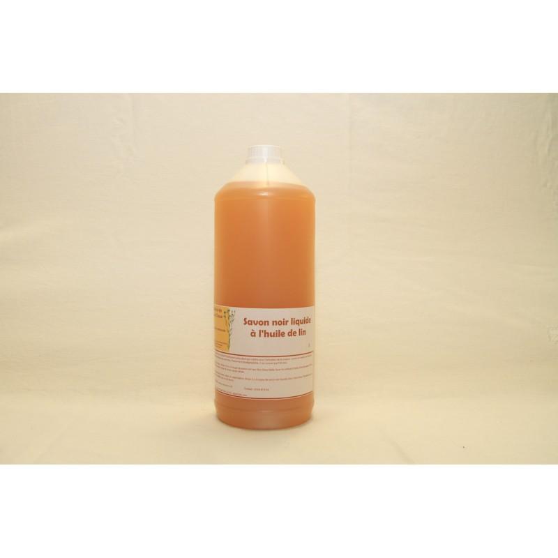 Savon noir liquide à l'huile de lin 1l